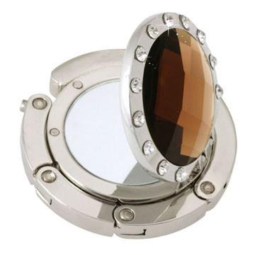 Mirror Amber Crystal Handbag hook