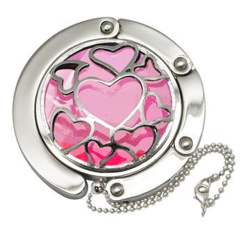 Big Pink Heart Gilded Hooks Handbag Hooks