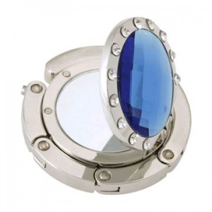 Mirror Blue Crystal Handbag Hook