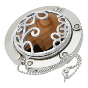 Amber Flower Gilded Handbag Hooks