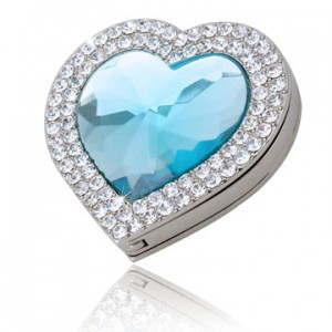 Aqua Love Shape Handbag Hook