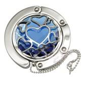 Big Blue Heart Gilded handbag Hooks