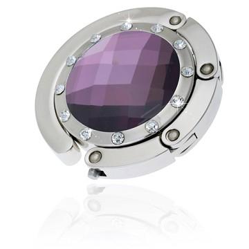 Classic Purple Crystal Handbag Hooks