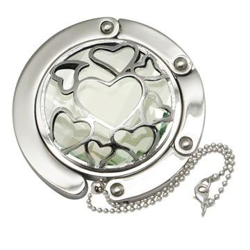 Big Diamond Heart Handbag Hooks