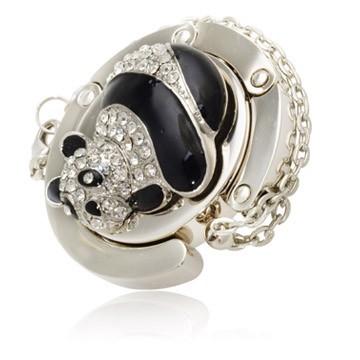 Crystalize Panda Handbag Hook