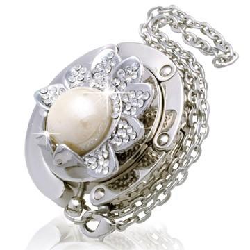 Pearl White Flower Handbag Hook