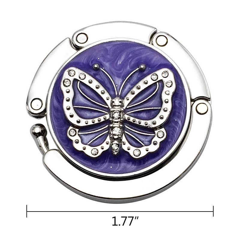 Purple Butterfly Handbag Hooks