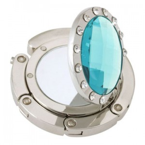 Mirror Aqua Crystal Handbag hook