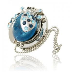 Ladybird Blue Handbag Hook