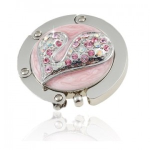 Connected Pink Heart Handbag Hook