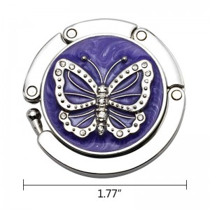 Purple Butterfly Handbag Hooks
